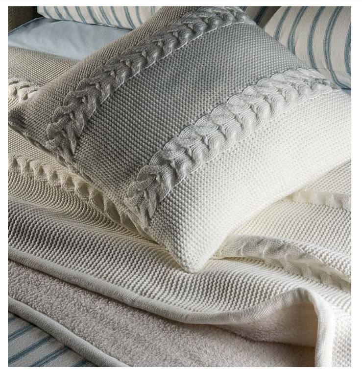 Cable Knit - The Newest Trend - Chunky Throws, with Matching Scatters