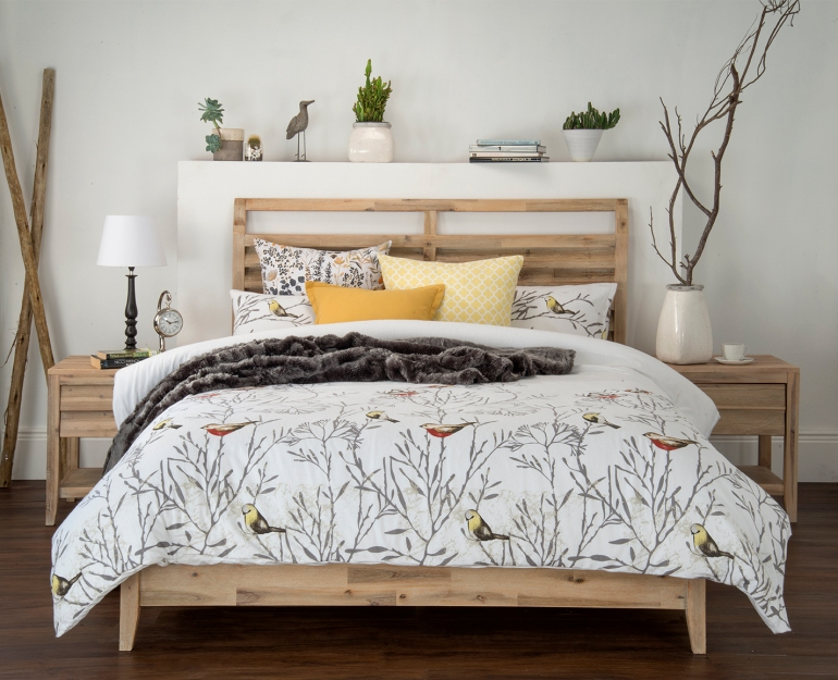Nest Winter Cotton Print sml - throws