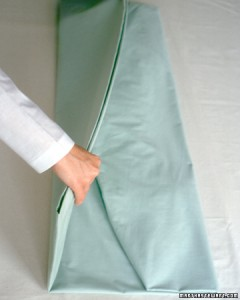 Folding a sheet - step 5