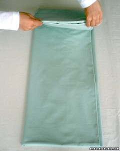 Folding a sheet - step 6
